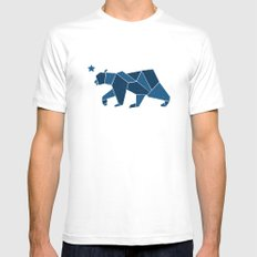 California Bear Mens Fitted Tee White SMALL