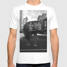 elephant White SMALL Mens Fitted Tee