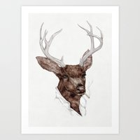 Smoking Buck Art Print