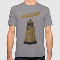 Dalek Doctor Who Mens Fitted Tee Athletic Grey SMALL