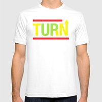 Turnup Mens Fitted Tee White SMALL