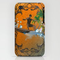 iPhone 3Gs & iPhone 3G Cases featuring Surfboarder by nicky2342