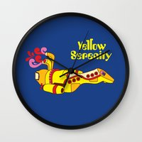 Yellow Serenity Wall Clock