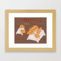 I can't wait to test the cheesecake! Framed Art Print