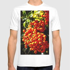 Summer Berries SMALL Mens Fitted Tee White