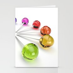 Rainbow Lollipop Stationery Cards