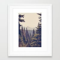 Framed Art Prints featuring Mountains through the Trees by Kurt Rahn