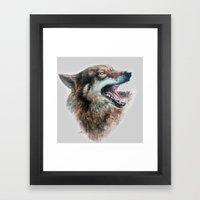 Wolf Smile Framed Art Print