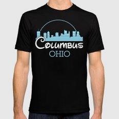 Columbus, Ohio SMALL Black Mens Fitted Tee