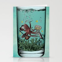 Musical Octopus Print Stationery Cards