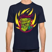 FUNKENSTEIN Mens Fitted Tee Navy SMALL