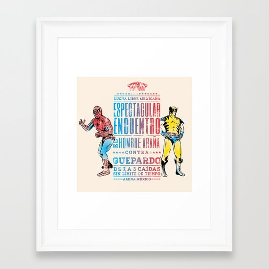 Espectacular Encuentro Framed Art Print