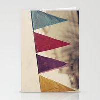 Flags (Vintage and retro photopgraphy) Stationery Cards