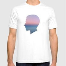 Head in the Clouds Mens Fitted Tee SMALL White