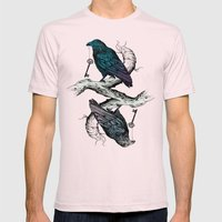 Raven's Key Night+Day Mens Fitted Tee Light Pink SMALL