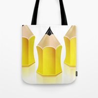 Stylized Pencil Artwork … Tote Bag