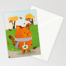 A Lovely Walk To The Shops In Autumn Stationery Cards