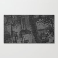 New York On Flowers Canvas Print