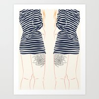 stripes Art Prints featuring Stripes by Elly Liyana