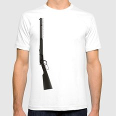 This Town Ain't Big Enough for Both of Us White SMALL Mens Fitted Tee