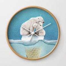 polar ice cream cap 02 Wall Clock