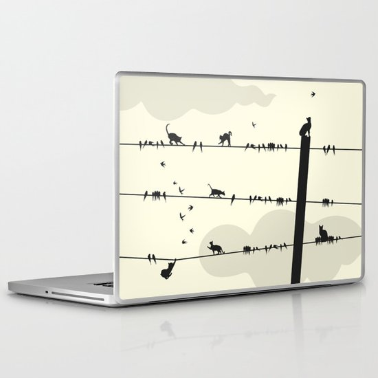 Cats and Birds Laptop & iPad Skin