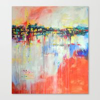 on the water,  expressive landscape, abstract Canvas Print