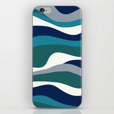 Cordillera Stripe: Teal Navy Combo iPhone & iPod Skin