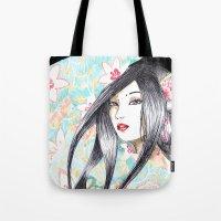 Geisha Glance Tote Bag