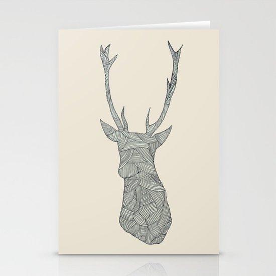 Deer. Stationery Card
