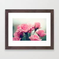 Dainty Roses Framed Art Print