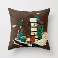 Book City Throw Pillow