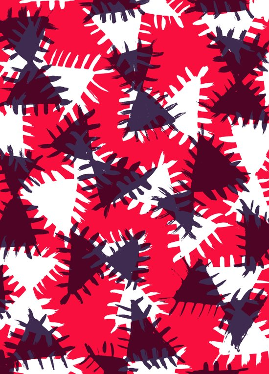 Triangle painted and digital pattern Art Print