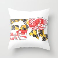 M for Maryland Throw Pillow
