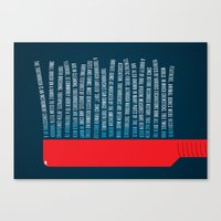 Illustrated Wikipedia - Toothbrush Canvas Print