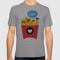 French Fries Mens Fitted Tee Athletic Grey SMALL