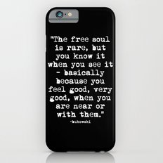 Charles Bukowski Typewriter White Font Quote Free Soul iPhone 6 Slim Case