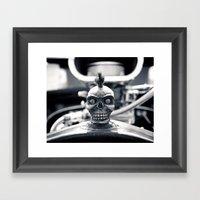 Gritty skull Framed Art Print