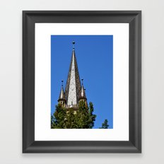 Evangelical Cathedral Bell Tower from Sibiu, Transylvania Framed Art Print