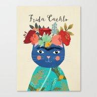 Frida Cathlo Canvas Print