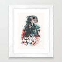 Not What They Seem Inspired by Twin Peaks Framed Art Print