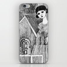 Girl on the top of her house. iPhone & iPod Skin