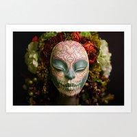 Acorn Harvest Muertita Detail Art Print
