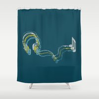 Plug in the music Shower Curtain
