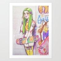 ☮ Grasshopping ☮ Art Print