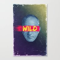 Vintage Quotes Collection -- Wild Canvas Print