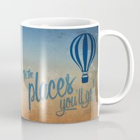 Oh, the Places You'll Go - Blue & Gold Mug
