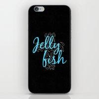 Jellyfish Cross Black iPhone & iPod Skin