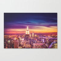 New York City Dusk Sunset Canvas Print