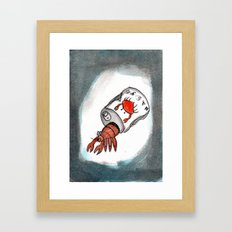 Crab Juice Framed Art Print